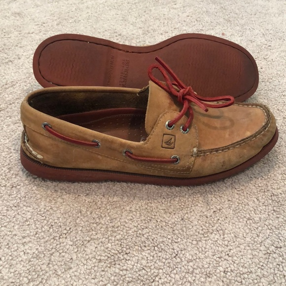 Sperry Shoes   Sperry Topsider Tan And